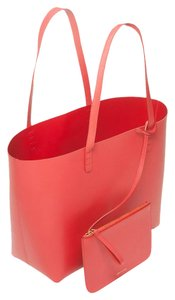 Mansur Gavriel Large Flamma Tote in Red/Flamma