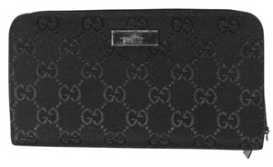 Gucci New Guccissima Canvas/Leather Double Zip Wallet