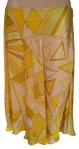 Emilio Pucci Skirt Yellow Geometric Multi-Color
