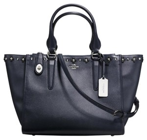 Coach Floral Tote in Navy
