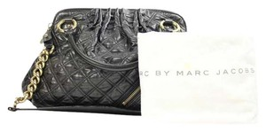 Marc Jacobs Stam Hamilton Quilted Satchel in Black Gold