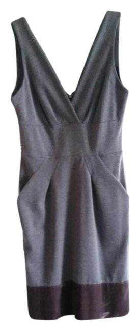 Item - Grey Mid-length Work/Office Dress Size 6 (S)