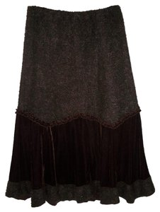 Soft Surroundings Velvet Boucle Knit Skirt