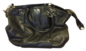 Coach Pebble Leather Satchel in Black
