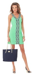 Lilly Pulitzer short dress Green & Blue Embroidered on Tradesy