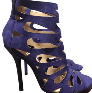 Wild Diva Royal blue Platforms