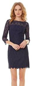 Lilly Pulitzer short dress Dark Blue Lace Two Tone Feather on Tradesy