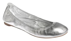 Tory Burch Leather Silver Flats