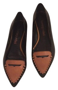 Luxury Rebel Black and brown Flats