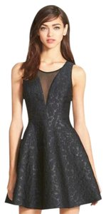 ASTR Jacquard Fit And Flare Party Shimmer Dress