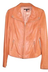 Elie Tahari Coral Leather Jacket