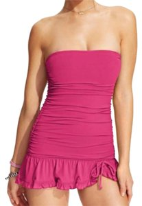 Coco Rave Coco Rave Ruched Bandeau Ruffle 1-Piece Swimsuit
