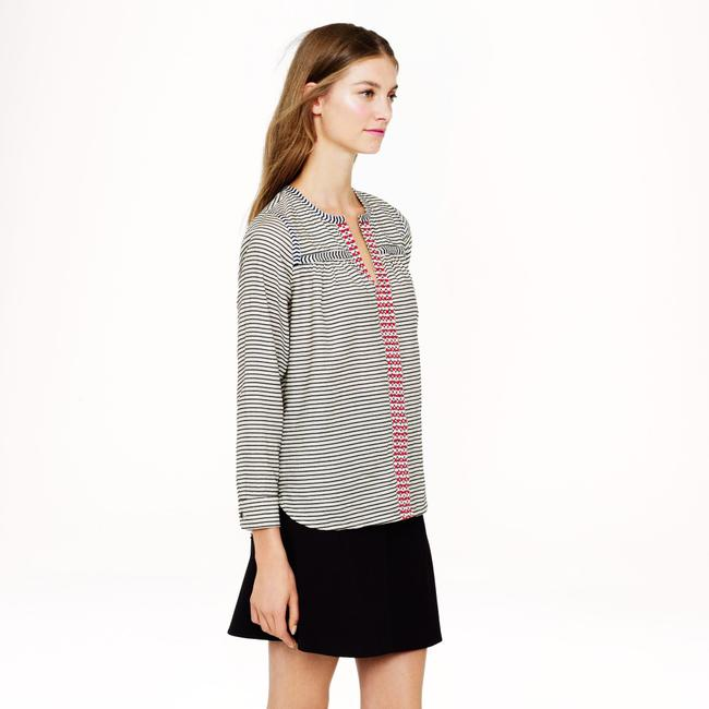 J.Crew Top Black and White Image 1