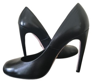 Gucci Leather High Heel Black Pumps