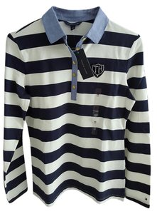 Tommy Hilfiger T Shirt Navy white gold