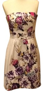 White House | Black Market Classic Cotton Floral Structured Sleeveless Dress