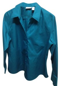 Chico's Button Down Shirt Green
