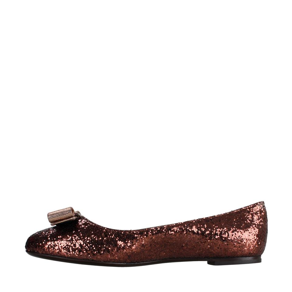 8f8cc4ba52de Salvatore Ferragamo Tea Rose New Box Glitter Varina Ballet Bow Flats Size  US 7 Regular (M