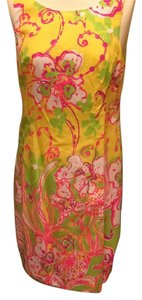 Lilly Pulitzer short dress Yellow Cotton on Tradesy