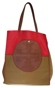 Tory Burch Tote in Orange & Tan