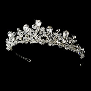 Elegance By Carbonneau Elaborate Crystal And Rhinestone Wedding Tiara