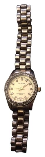 Geneva Two Tone Geneva Watch with Crystal Numbers