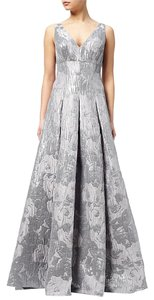 Aidan Mattox Metallic Ball Gown Dress