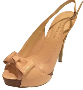 Enzo Angiolini Leather Classic Slingback Light pink Platforms