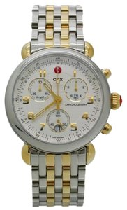 Michele Michele CSX Two Tone Silver Gold Stainless Chronograph Watch MWW03D000026