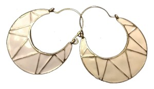 Other Gold and White Earrings