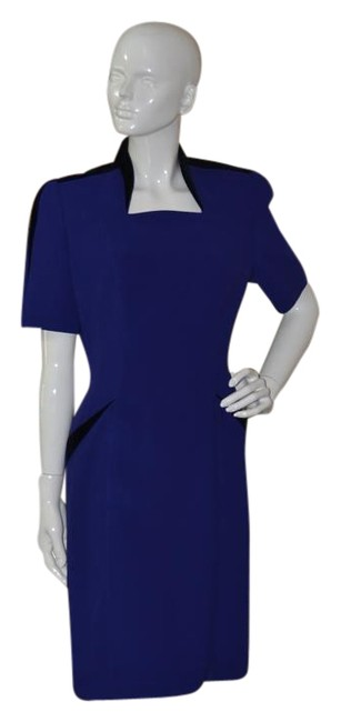 Preload https://img-static.tradesy.com/item/16800061/thierry-mugler-deep-blue-with-velvet-accents-knee-length-night-out-dress-size-10-m-0-1-650-650.jpg