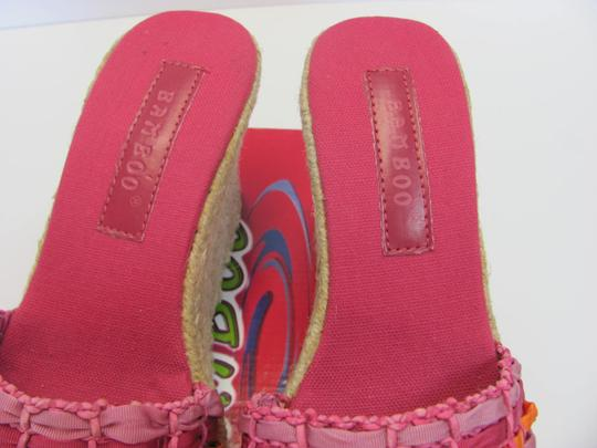 Bamboo New Size 8.50 M Excellent Condition Pink, Apricot Wedges Image 3