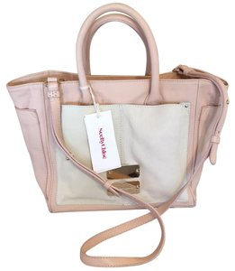 See by Chloé Satchel in Peach & Cream