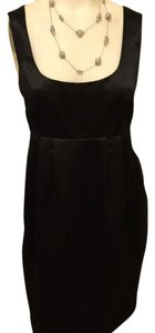 Michael Kors Empire Waist Satin Fitted Sheath Lined Dress