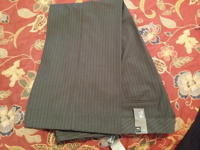 Mossimo Supply Co. Wide Leg Pants Grey Pinstripes/Brown