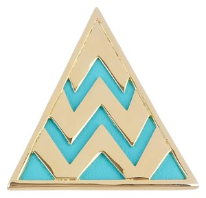 House of Harlow 1960 House of Harlow 14K Gold Plated Leather Triangle Cocktail Ring - Size 6