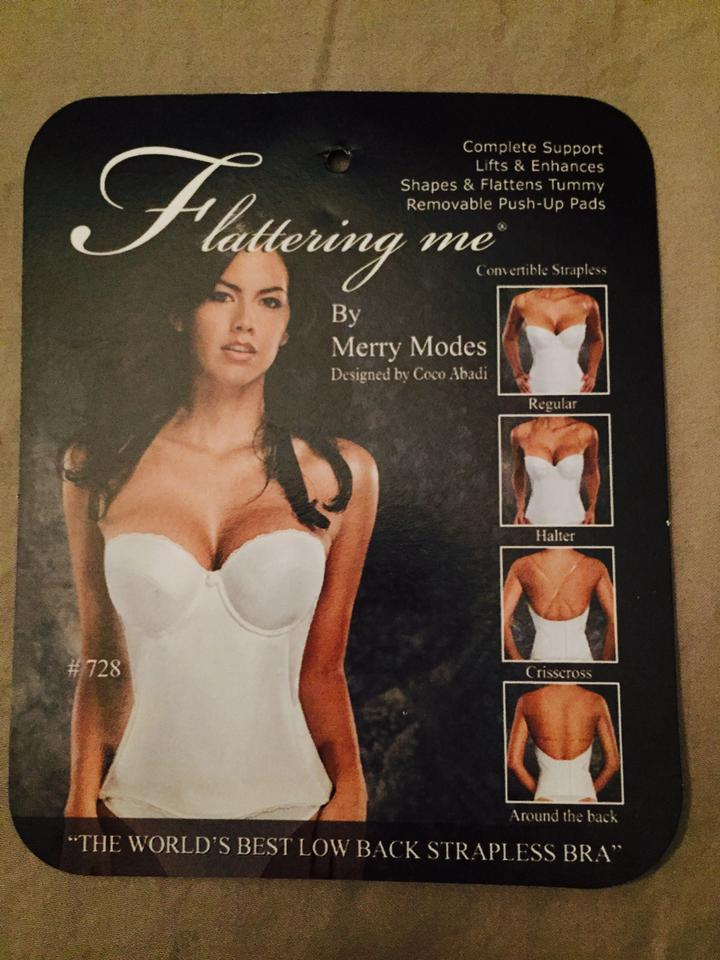 7a8027473eb Merry Modes Ivory Flattering Me By Low Back Strapless Corset Bra 67% off  retail