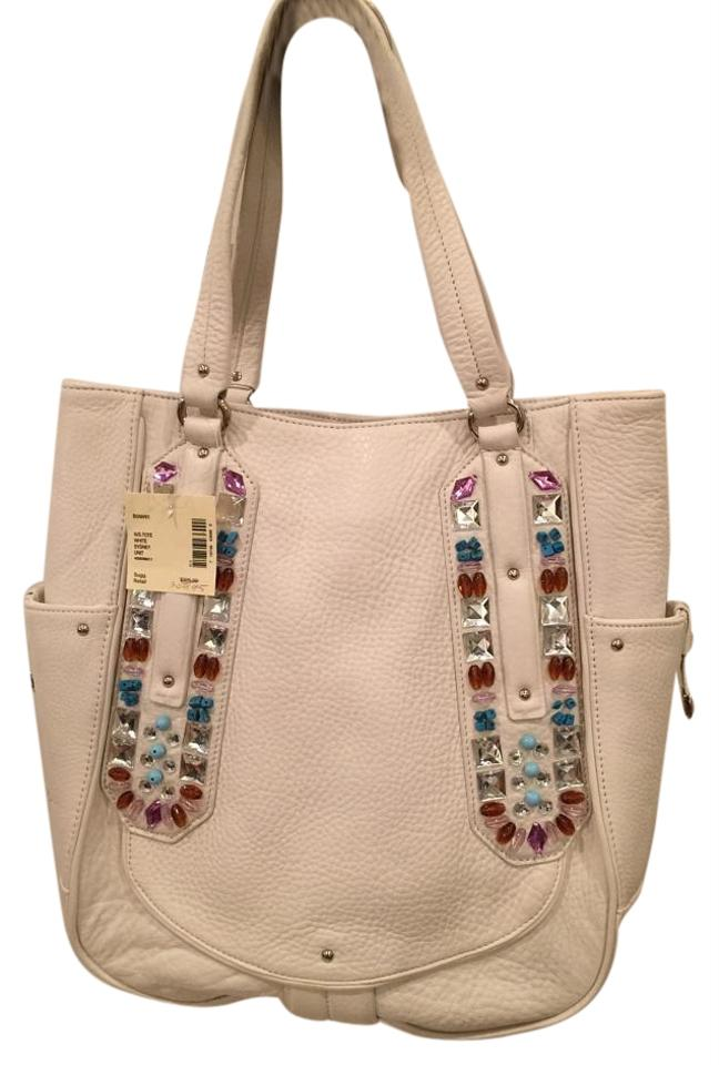 Pebble Cole Sydney White Leather Tote Haan BwrwAt