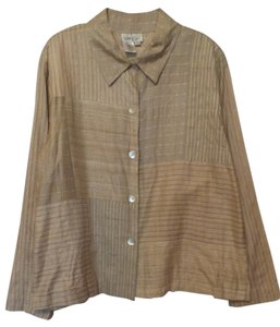 Coldwater Creek Silk Large Lightweight Neutral palette Jacket