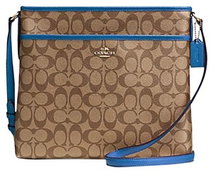 Coach Monogram Classic Canvas Blue Messenger Bag