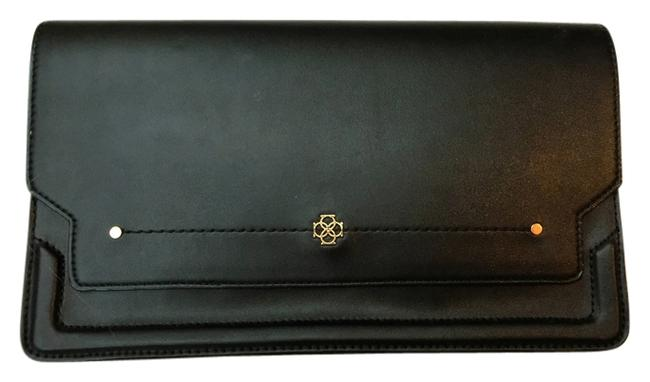 Item - 15137081 Black Leather with Gold Hardware Clutch