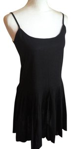 AllSaints short dress Black Spaghetti Straps Scoop Neck Pleated Tunic on Tradesy