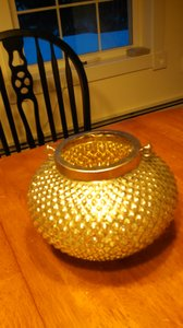 Textured Vintage Gold Mercury Glass Vase With Handle