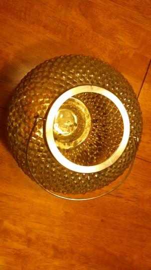 Gold Mercury Glass Textured Vintage Vase with Handle Centerpiece