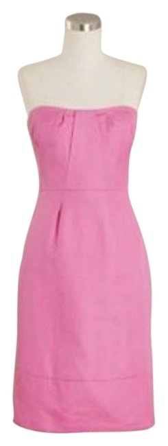 Item - Pink Erica In Cotton Cady Mid-length Cocktail Dress Size 6 (S)