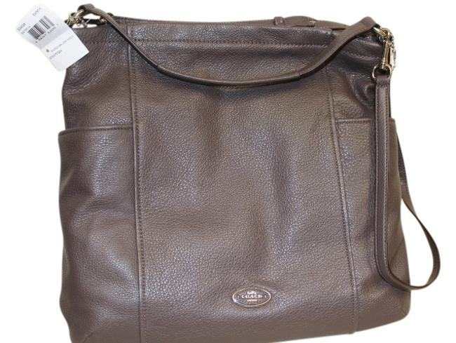 Item - Chicago Gallery 33436 Silver Mink Leather Hobo Bag