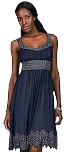 Adrianna Papell Beaded Silk Chiffon Dress