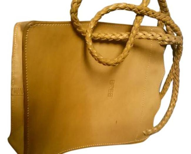 Item - Woven Handles Tan Leather Tote