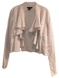 Arden B. Off White Womens Jean Jacket