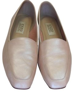 Enzo Angiolini Leather Size 9.00 M Pink, white Flats